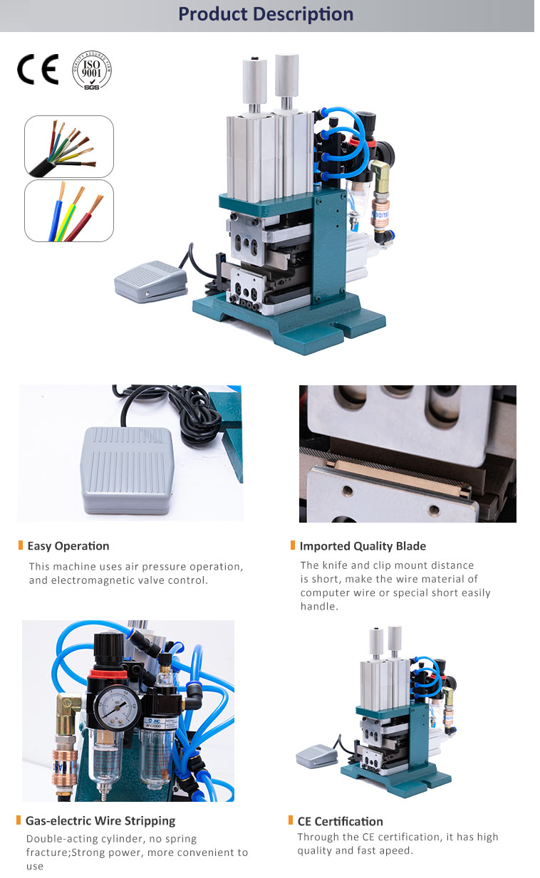 WPM-4F+T Multicore wire Stripping and Twisting Machine