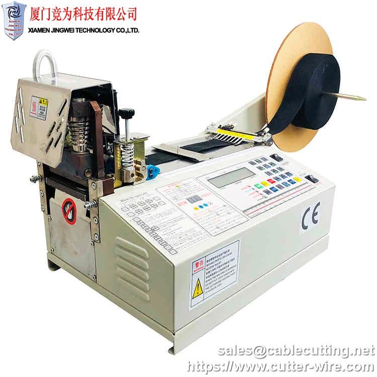 Hot Cut Satin Fabric Ribbon Cutting Machine WPM-890S