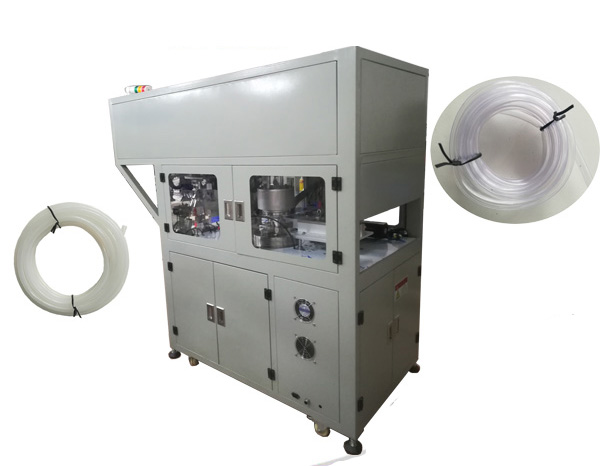 PE/PVC flexible tube cutting winding tying machine WPM-02SL