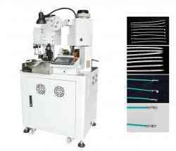 Full servo cable both sides crimping machine